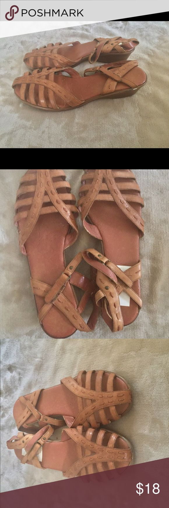 Vintage Sandals Vintage Easy Spirit Sandals. Leather upper approximately 1.5 inch wedge heel. In good condition with signs of some wear. Please review all details and photos. All Items sold as is.  *Model Not Provided  *All items come from a smoke free and pet free home  *Offers considered through offer feature only  ❌No Trades❌ Easy Spirit Shoes Sandals