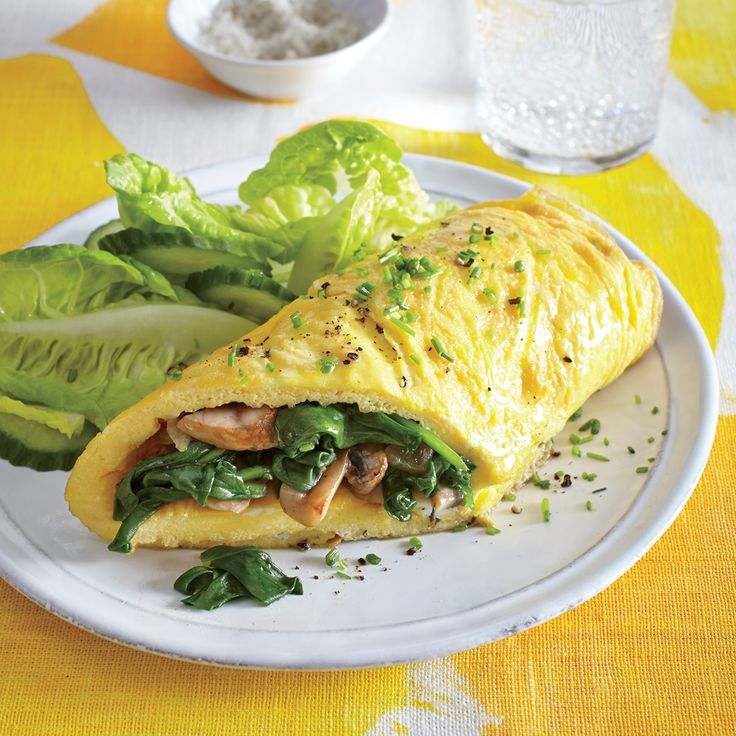 Mushroom and Spinach Omelet Recipe 244 cal