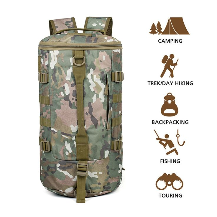 Hisea Outdoor Camping Backpack Tactical Military Rucksacks Waterproof Hiking Daypack Nylon MOLLE Bag for Travelling Hunting Trekking, 19 liters, Woodland Color. 1. DURABLE AND WATERPROOF - Made from high density and water resistant nylon fabric, equipped with durable smooth zipper, comfortable handle, adjustable padded straps and insane strong buckle to provide maximum comfort;. 2. STORAGE - Compact size 16.93 x 10.24 x 6.7 inches, 19 liters capacity, not a big backpack, but with…