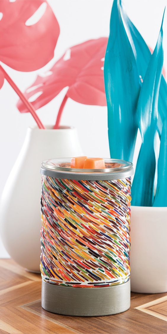 Colors Of The Rainbow Scentsy Warmer Gl Multi Coloured Wax Burner Purchase
