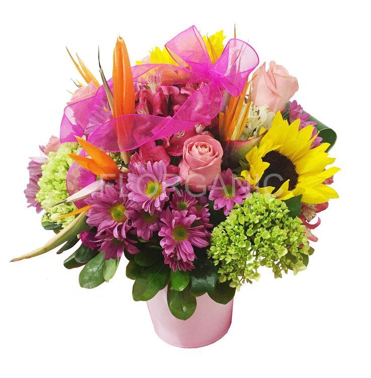 Flower Arrangements El Paso: Base De Cerámica Con Girasoles, Rosas, Margaritas Y