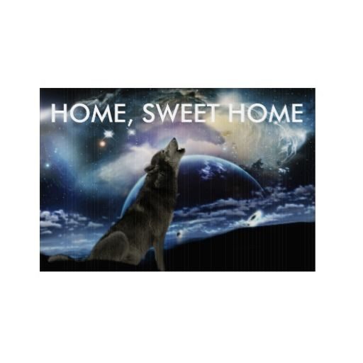 Wolf Home sweet home street sign