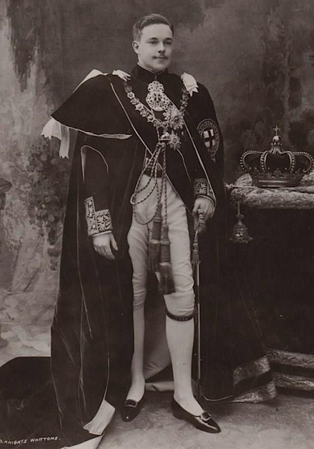 King D. Manuel II of Portugal in Garter Robes (c. 1909)
