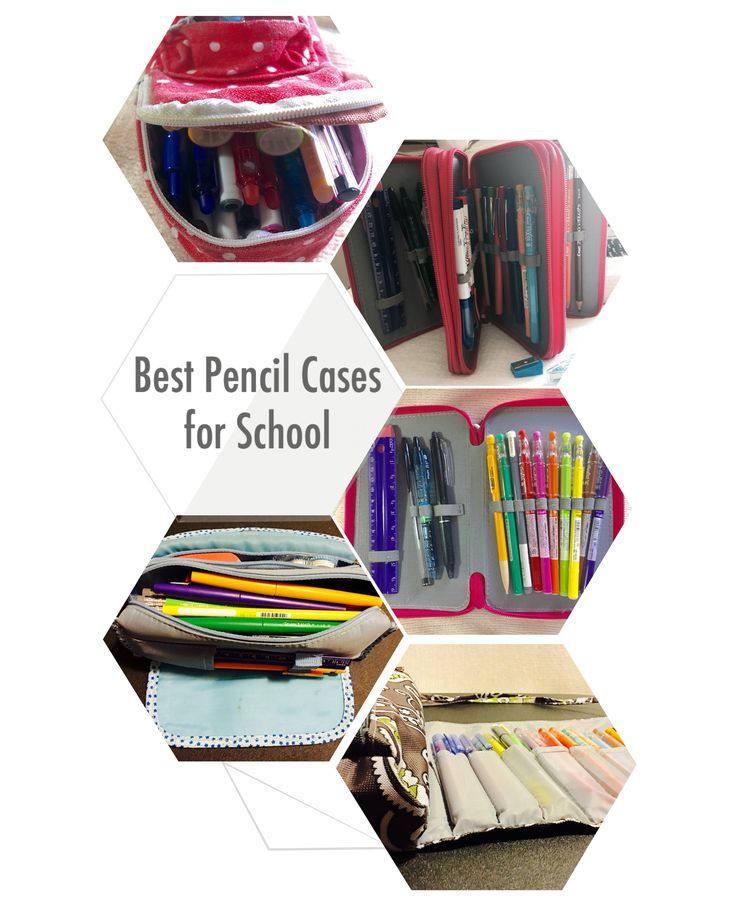 A collection of the best pencil cases for school and bullet journal