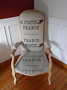 rénovation de fauteuil la Poste