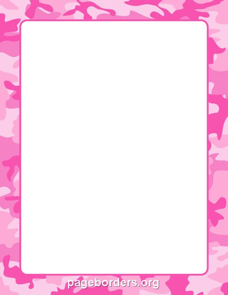 printable pink camouflage border  use the border in