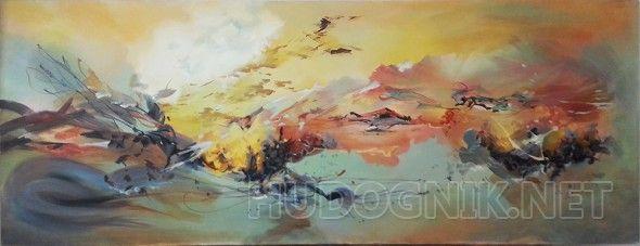абстрактный пейзаж работа выполнялась на заказ. Находиться в частной коллекции в Израиле
