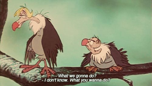 """I don't know. What you wanna do?""    The Jungle Book!"