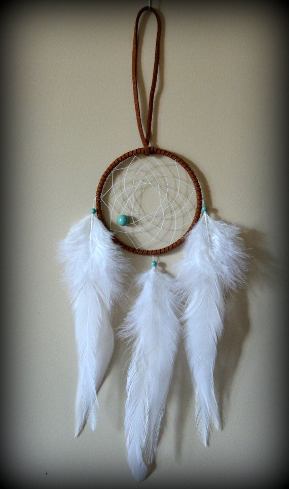 3'' Brown Dream Catcher with Turquoise by PicnicUnderTheStars