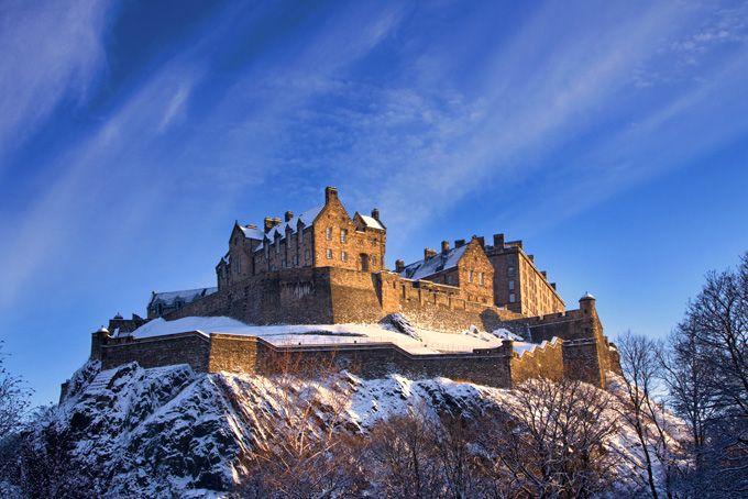 Эдинбургский замок, Эдинбург, Шотландия    Самые красивые замки Европы !