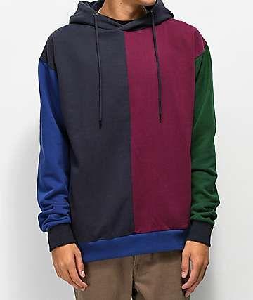 8bc84406ee Teddy Fresh Burgundy Block Hoodie | Fashion inspo | Hoodies, Jogger ...