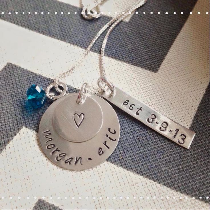 Tiny Tokens by Jen Mommy necklace. Personalized mother necklace - Hand stamped necklace. Personalized Gift for Women