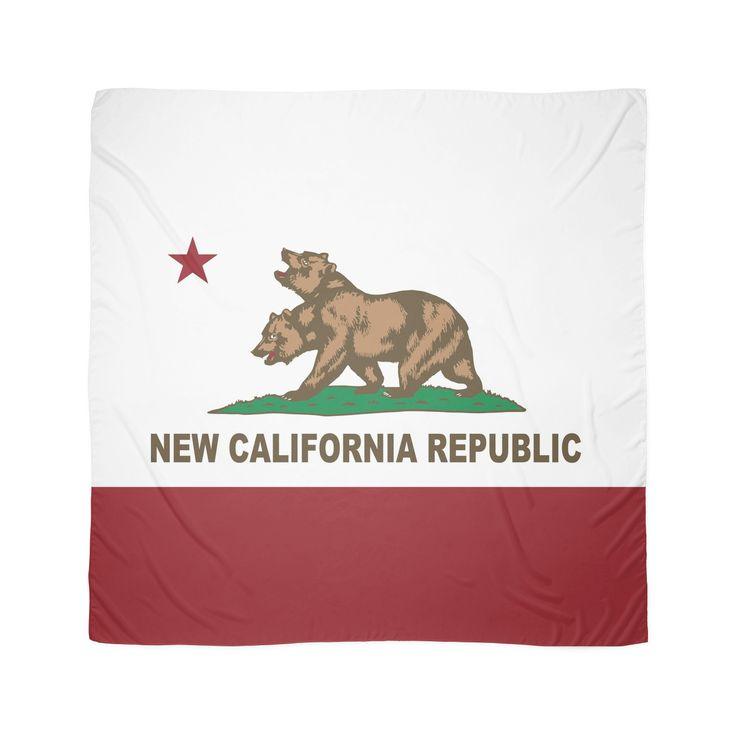 New California Republic Flag Original  Scarves