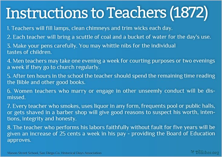 funny teacher posters | POSTER: Instructions To Teachers (1872 ...