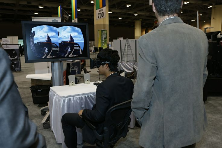 The oculus 3D headset roller coaster exhibit from the Advanced Cognitive Engineering (ACE) Lab from Carleton University allowed users to immerse themselves in a virtual experience, simulating an actual roller coaster ride.
