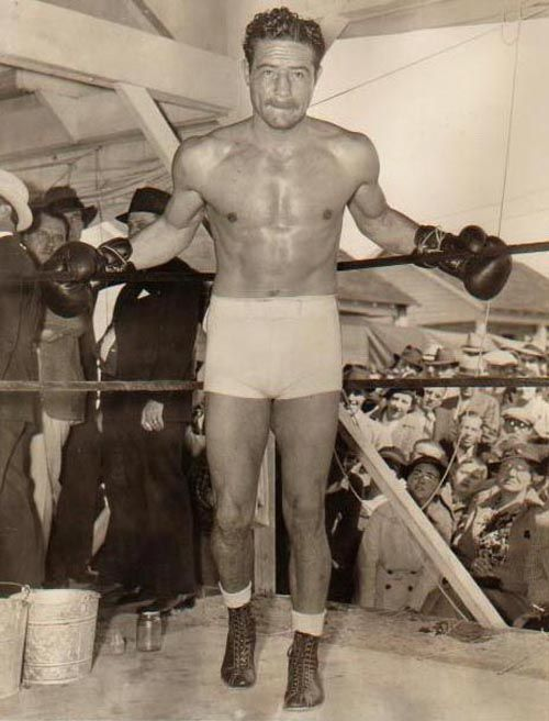 Max Baer from Omaha-was an American boxer of the 1930s (one-time Heavyweight Champion of the World) as well as a referee, and had an occasional role on film or television. He was the brother of heavyweight boxing contender Buddy Baer and father of actor Max Baer Jr. (best known as Jethro Bodine on The Beverly Hillbillies). Baer is rated #22 on Ring Magazine's list of 100 greatest punchers of all time.