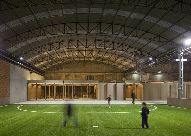 N10 sports facility by comoco architects adaptive reuse for Indoor facility design
