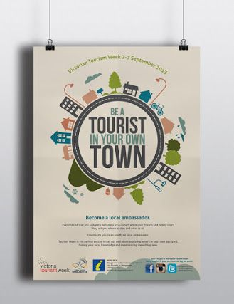 Be A Tourist In your Own Town Tourism Week poster Rural City of Wangaratta