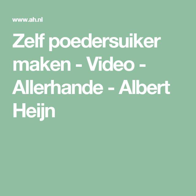 Zelf poedersuiker maken - Video - Allerhande - Albert Heijn