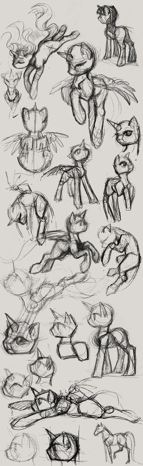 pencil pony studies by CosmicUnicorn on deviantART