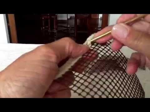 Lavorazione ad uncinetto nella rete - YouTube