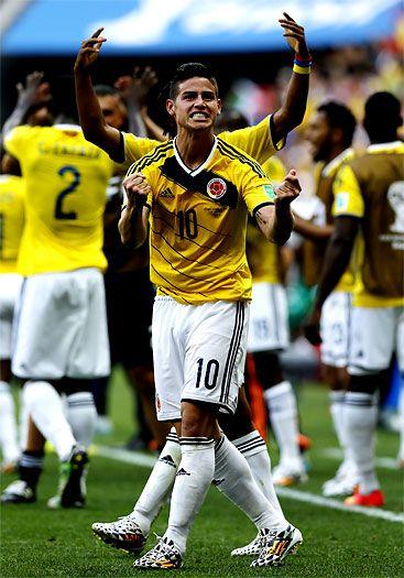 Figura del día: James Rodríguez, de nuevo el jugador del partido  #VamosColombia  #Brasil2014