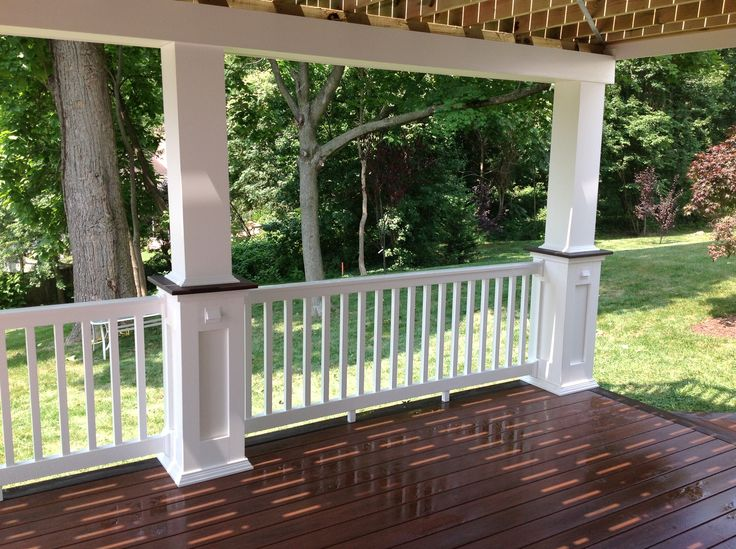 Amberwood Wolf Decking Creates A Great Accent To White