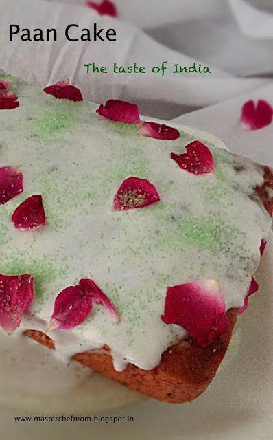 MASTERCHEFMOM: Paan Cake | A Festive Cake | Betel Leaf flavoured Cake | How to…