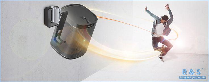 Base soporte de pared para bocinas speakers parltantes de teatro en casa home teather | Bases y Soportes Ltda