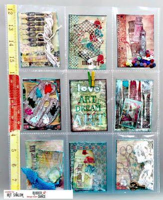 Rubber Dance Blog: Art Pocket letter tutorial