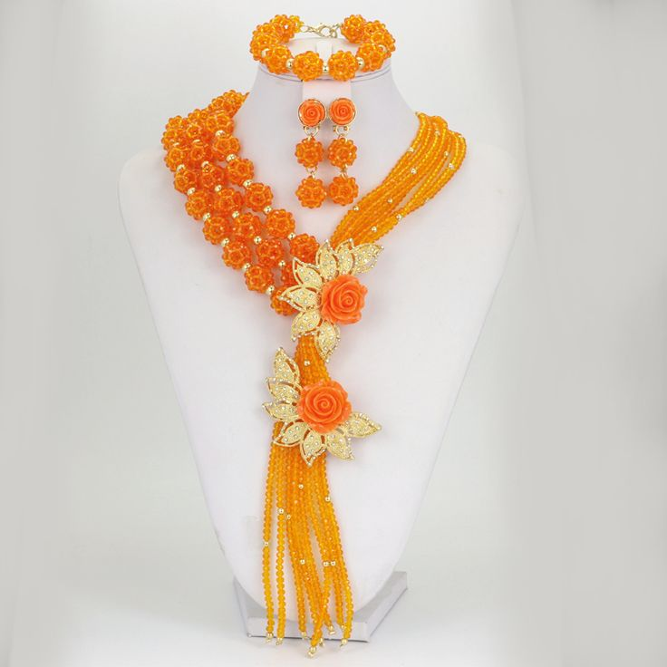 Find More Jewelry Sets Information about CZ Free Shipping 2016 Lovely African Beads Jewelry Set, Custome Orange Blue Purple Perlas Bridal Jewelry Sets,High Quality beaded branches,China bead caddy Suppliers, Cheap bead stone from YIWU  CZ Jewelry  Co. on Aliexpress.com