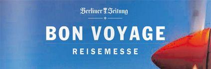 """Die Reisemesse """"Bon Voyage"""" findet vom 09-10.11. im Haus des Berliner Verlages am Alexanderplatz, Berlin statt. Viele Reiseveranstalter präsentieren ihre neuen Reisen und wir sind auch mit dabei. Kommen Sie vorbei! Wir freuen uns auf Sie!"""