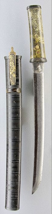 Tanto with no ito on the tsuka.