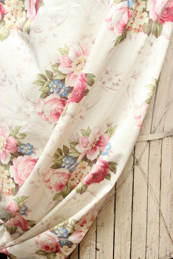 Vintage 1940s Glen Rose Scrolled Pink English By