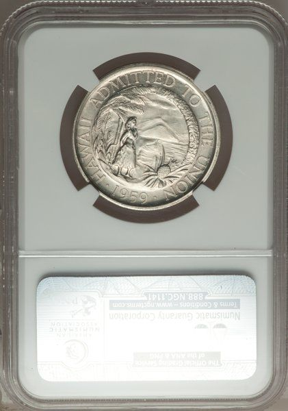 Coins of Hawaii, 1959 Hawaii Statehood Heraldic Art Medal, Silver, Thin, MS67 NGC.Medcalf 2MS-4....