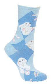 Bunny blue socks