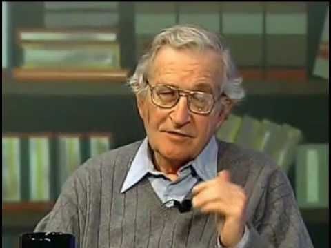 Noam Chomsky discussing John Dewey's educational and social theories, in response to an interview question.