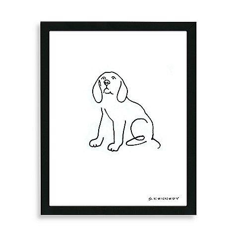 Beagle Framed Line Drawing