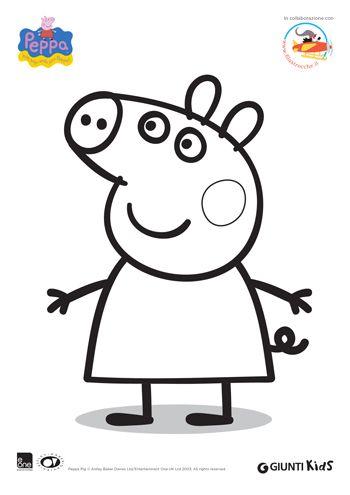 Peppa Pig: disegni da colorare: Peppa Pig - Disegna e colora con Filastrocche.it