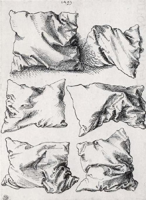 design-is-fine:  Albrecht Dürer, six pillows, pen an ink on...