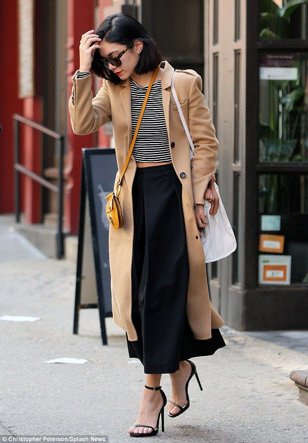 So stylish: The actress looked oh-so-chic on her way to her matinee performance of Gigi: T...