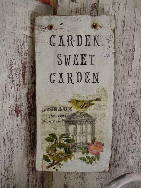 MC Vintage garden sign : octubre 2013