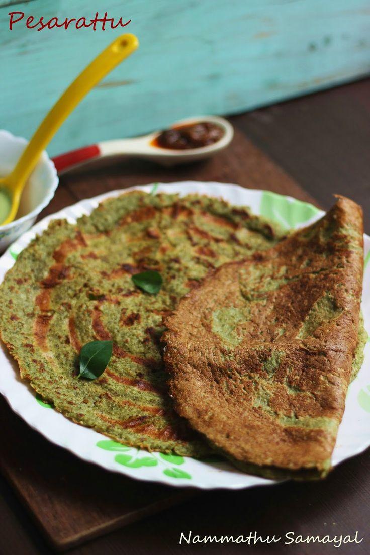 Nammathu Samayal: Pesarattu - Green gram dosa