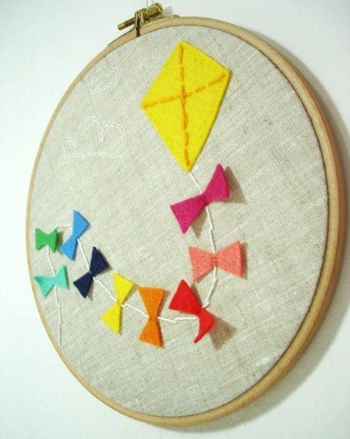 regenbogen: Wall Art, Hot Air Balloon, Art Crafts, Simple Embroidery Design, For Kids, Cute Ideas, Hoop Art, Embroidery Hoop, Kids Rooms