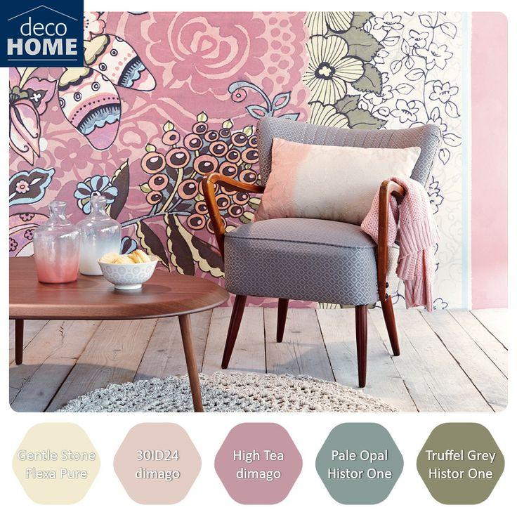 de kleurrijke en verfijnde prints van de nieuwe eijffinger raval collectie zijn onderling mix. Black Bedroom Furniture Sets. Home Design Ideas