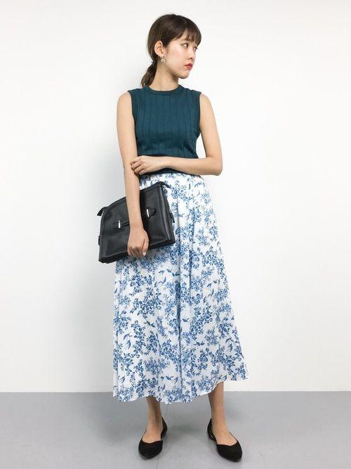 ゆきちさんの「花柄ロングスカート 750224(LOWRYS FARM)」を使ったコーディネート