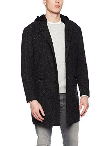 Springfield NT-Long Wool Coat Neps, Giacca Uomo, Grigio, L