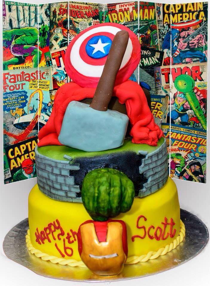 Marvel cake for the superhero fan!