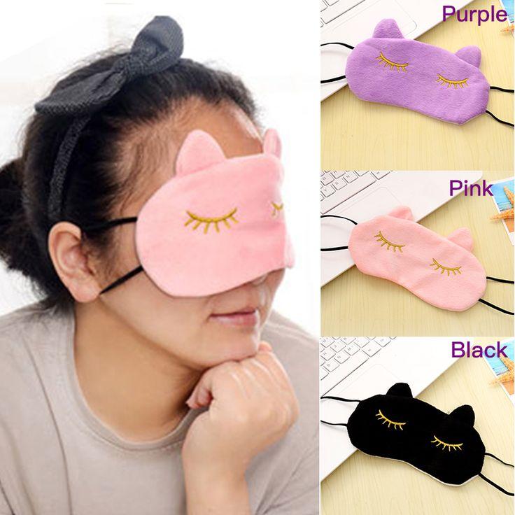 1pc Cute Travel Sleep Eye Shade Cartoon Eye Shade Sleep Mask Black Mask Bandage On Eyes for Sleeping WC300 P45