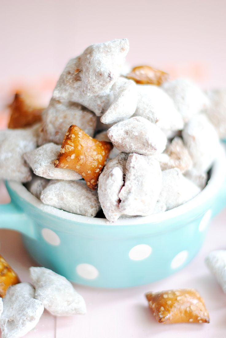 Peanut butter filled pretzels replace rice cereal in this twist on a classic sweet snack mix.